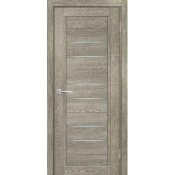 Дверь ТЕХНО-806 Гриджио  nanotex белый сатинат со стеклом