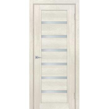 Дверь ТЕХНО-807 Бьянко  nanotex белый сатинат со стеклом