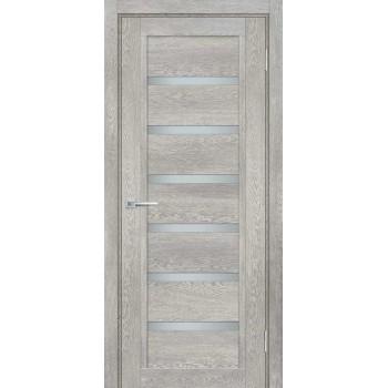 Дверь ТЕХНО-807 Чиаро гриджио  nanotex белый сатинат со стеклом