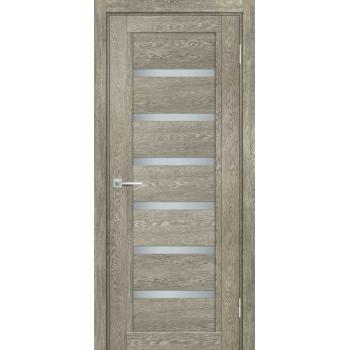 Дверь ТЕХНО-807 Гриджио  nanotex белый сатинат со стеклом