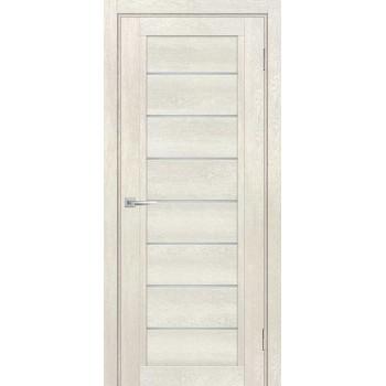 Дверь ТЕХНО-808 Бьянко  nanotex белый сатинат со стеклом