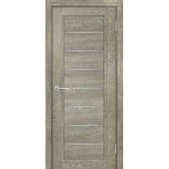 Дверь ТЕХНО-808 Гриджио  nanotex белый сатинат со стеклом