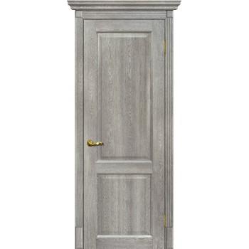 Дверь Тоскана-1 Чиаро гриджио  nanotex глухое