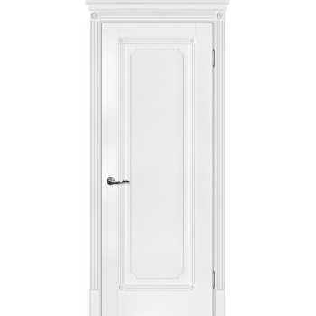 Дверь Флоренция-1 Белый  Экошпон глухое