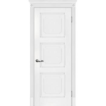 Дверь Флоренция-4 Белый  Экошпон глухое