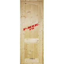 Дверь Дача Бесцветный  Массив глухое (Товар № ZA 12642)