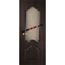 Дверь Кардинал Венге Мелинга  3D покрытие Белое сатинато, художественное, фьюзинг со стеклом (Товар № ZA 12662)