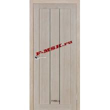 Дверь ТЕХНО-602 Капучино  3D покрытие Белое сатинато со стеклом (Товар № ZA 12667)