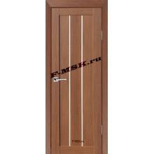 Дверь ТЕХНО-602 Орех Ночавелла  3D покрытие Белое сатинато со стеклом (Товар № ZA 12669)