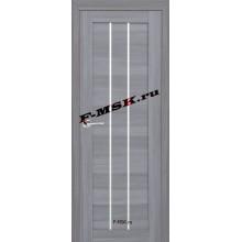 Дверь ТЕХНО-602 Светло серый  3D покрытие Белое сатинато со стеклом (Товар № ZA 12670)