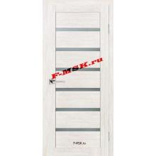 Дверь ТЕХНО-607 ЭшВайт  3D покрытие Белое сатинато со стеклом (Товар № ZA 12673)