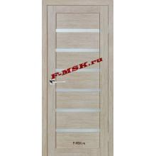 Дверь ТЕХНО-607 Капучино  3D покрытие Белое сатинато со стеклом (Товар № ZA 12672)
