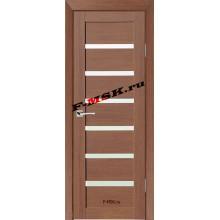 Дверь ТЕХНО-607 Орех Ночавелла  3D покрытие Белое сатинато со стеклом (Товар № ZA 12674)