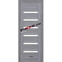 Дверь ТЕХНО-607 Светло серый  3D покрытие Белое сатинато со стеклом (Товар № ZA 12675)