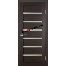 Дверь ТЕХНО-607 Венге  3D покрытие Белое сатинато со стеклом (Товар № ZA 12671)