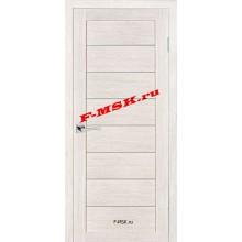 Дверь ТЕХНО-608 ЭшВайт  3D покрытие Белое сатинато со стеклом (Товар № ZA 12678)
