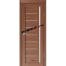 Дверь ТЕХНО-641 Орех Ночавелла  3D покрытие Белое сатинато со стеклом (Товар № ZA 12684)