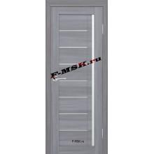 Дверь ТЕХНО-641 Светло серый  3D покрытие Белое сатинато со стеклом (Товар № ZA 12685)