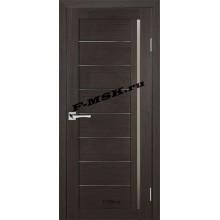Дверь ТЕХНО-641 Венге  3D покрытие Белое сатинато со стеклом (Товар № ZA 12681)