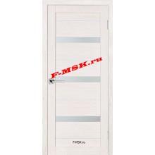 Дверь ТЕХНО-642 ЭшВайт  3D покрытие Белое сатинато со стеклом (Товар № ZA 12688)