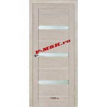 Дверь ТЕХНО-642 Капучино  3D покрытие Белое сатинато со стеклом (Товар № ZA 12687)