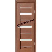 Дверь ТЕХНО-642 Орех Ночавелла  3D покрытие Белое сатинато со стеклом (Товар № ZA 12689)