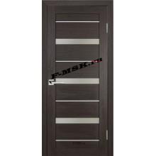 Дверь ТЕХНО-642 Венге  3D покрытие Белое сатинато со стеклом (Товар № ZA 12686)
