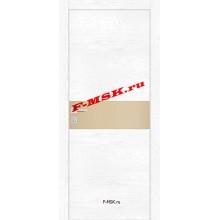 Дверь FX- 3 Ясень снежный  Экошпон Кремовый лакобель со стеклом (Товар № ZA 12708)