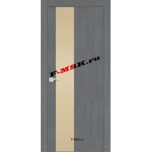 Дверь FX- 6 Ясень кварцевый  Экошпон Кремовый лакобель со стеклом (Товар № ZA 12711)