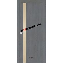 Дверь FX- 8 Ясень кварцевый  Экошпон Кремовый лакобель со стеклом (Товар № ZA 12720)