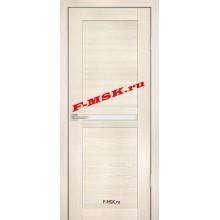 Дверь PS-03 ЭшВайт Мелинга  Экошпон Белое сатинато со стеклом (Товар № ZA 12774)