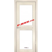 Дверь PS-04 ЭшВайт Мелинга  Экошпон Белое сатинато со стеклом (Товар № ZA 12784)