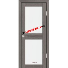Дверь PS-04 Грей Мелинга  Экошпон Белое сатинато со стеклом (Товар № ZA 12782)