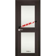 Дверь PS-04 Венге Мелинга  Экошпон Белое сатинато со стеклом (Товар № ZA 12781)