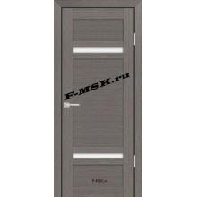 Дверь PS-05 Грей Мелинга  Экошпон Белое сатинато со стеклом (Товар № ZA 12788)