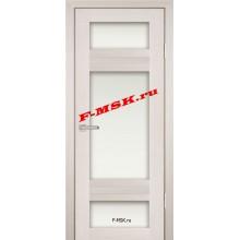 Дверь PS-06 ЭшВайт Мелинга  Экошпон Белое сатинато со стеклом (Товар № ZA 12796)