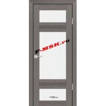 Дверь PS-06 Грей Мелинга  Экошпон Белое сатинато со стеклом (Товар № ZA 12794)