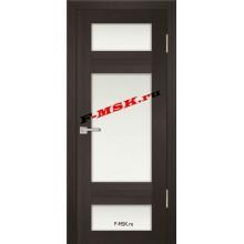 Дверь PS-06 Венге Мелинга  Экошпон Белое сатинато со стеклом (Товар № ZA 12793)