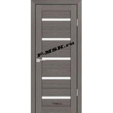 Дверь PS-07 Грей Мелинга  Экошпон Белое сатинато со стеклом (Товар № ZA 12806)
