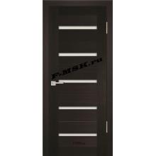 Дверь PS-07 Венге Мелинга  Экошпон Белое сатинато со стеклом (Товар № ZA 12805)