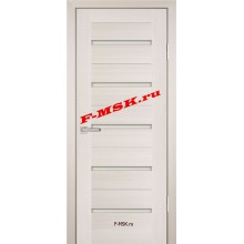 Дверь PS-07 ЭшВайт Мелинга  Экошпон Белое сатинато со стеклом (Товар № ZA 12808)