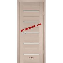 Дверь PS-07 Капучино Мелинга  Экошпон Белое сатинато со стеклом (Товар № ZA 12807)