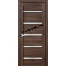 Дверь PS-07 Орех пасадена  Экошпон Белое сатинато со стеклом (Товар № ZA 12811)