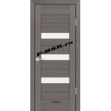Дверь PS-09 Грей Мелинга  Экошпон Белое сатинато со стеклом (Товар № ZA 12820)