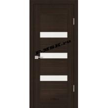 Дверь PS-09 Венге Мелинга  Экошпон Белое сатинато со стеклом (Товар № ZA 12817)