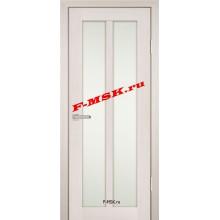 Дверь PS-22 ЭшВайт Мелинга  Экошпон Белое сатинато со стеклом (Товар № ZA 12917)