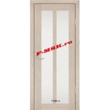Дверь PS-22 Капучино Мелинга  Экошпон Белое сатинато со стеклом (Товар № ZA 12918)