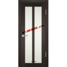 Дверь PS-22 Венге Мелинга  Экошпон Белое сатинато со стеклом (Товар № ZA 12916)