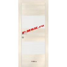 Дверь PX-4 ЭшВайт Мелинга  Экошпон Белый лакобель со стеклом (Товар № ZA 13284)