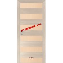 Дверь PX-5 Капучино Мелинга  Экошпон Кремовый лакобель со стеклом (Товар № ZA 13287)
